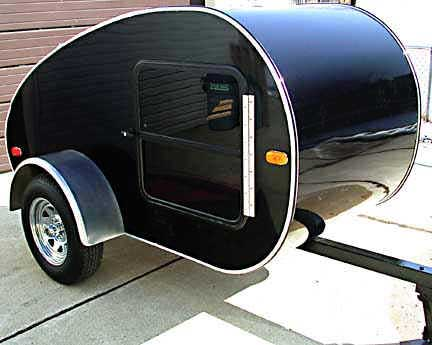 Photograph of the  Aerotear Model 86 Teardrop Trailer